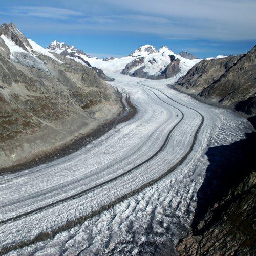 Glacier d'Aletsch vu depuis le sommet de l'Eggishorn