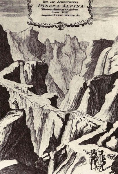 """L'ouvrage de Scheuchzer """"Itinera alpine"""""""