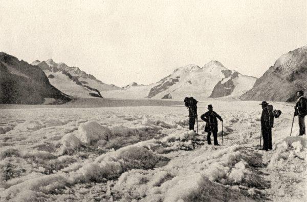Le prince Roland Bonaparte sur le glacier en 1889