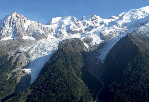 Le glacier des Bossons: un glacier de versant