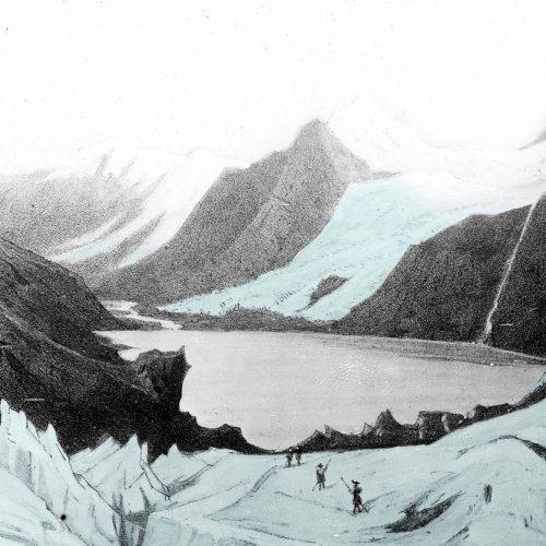 Sur le barrage glaciaire de l'Allalin en 1859