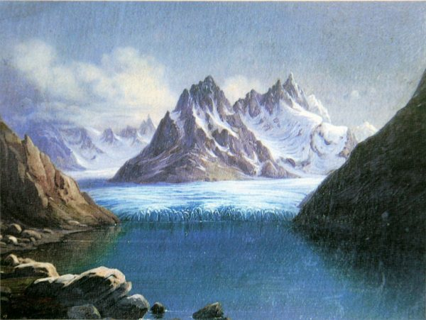 Le lac de Märjelen en 1840