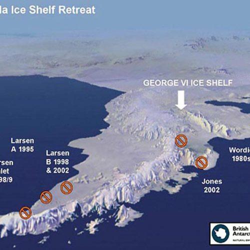 perte de volume au niveau de la péninsule Antarctique