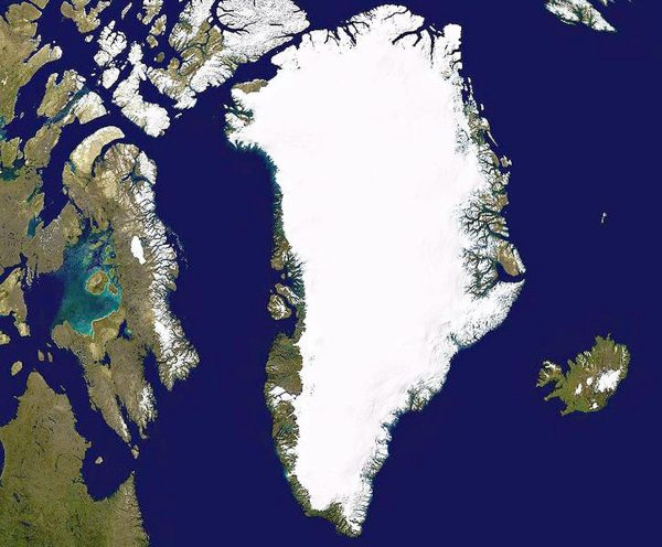 Le Groenland © NASA