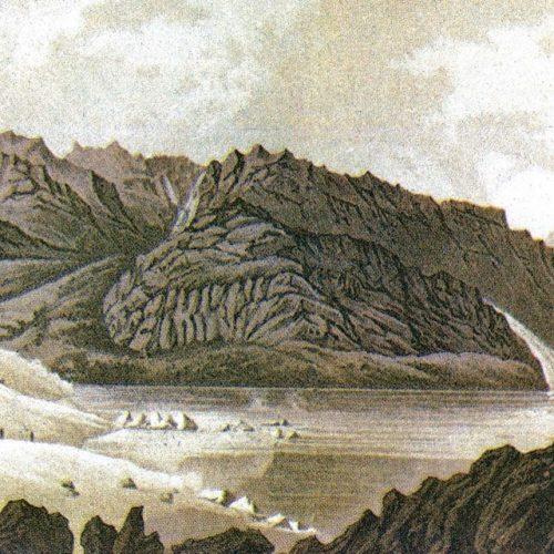 Le lac de Mauvoisin et glacier du Giétroz en 1818