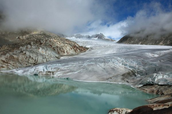 Lac du glacier du Rhône