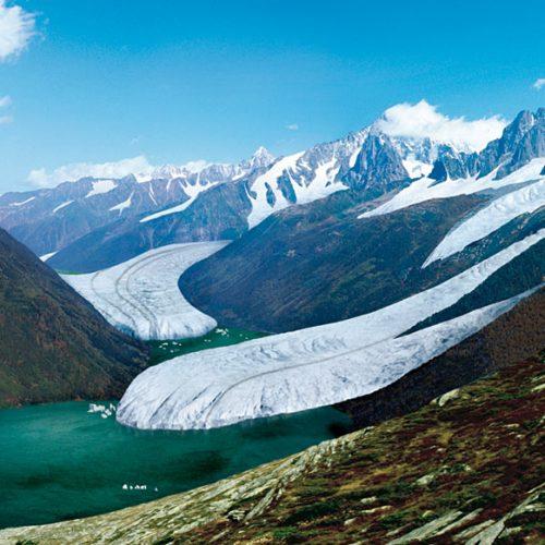 reconstitution de la mer de Glace au Dryas récent ©S. Coutterand, Alpes Magazine