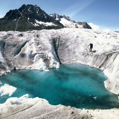 Lac supra-glaciaire © Tournaire