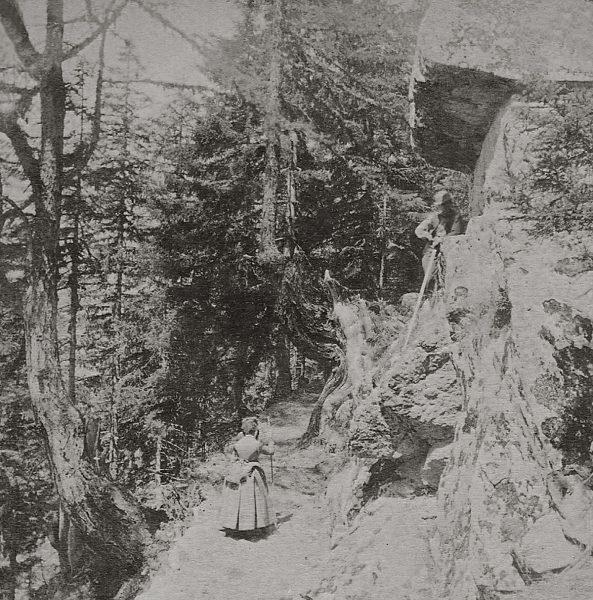 La pierre de Lisboli avant son exploitation en 1861