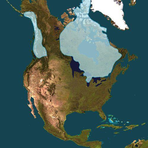 La calotte glaciaire Laurentide il y a 12 000 ans