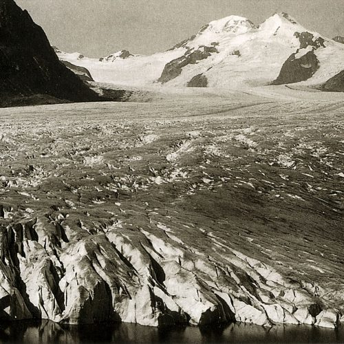 Glacier d'Aletsch vers 1860,  photo Martens ©JHV