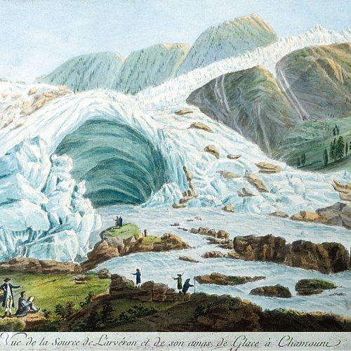 La grotte du glacier des Bois et la source à l'Arveyron