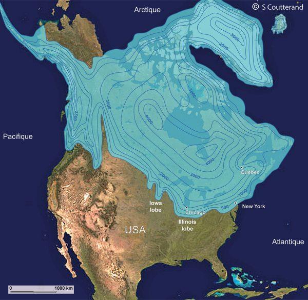 Calotte glaciaire de la Laurentide au LGM