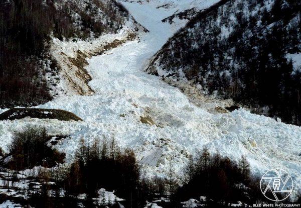 Avalanche du glacier de Taconnaz