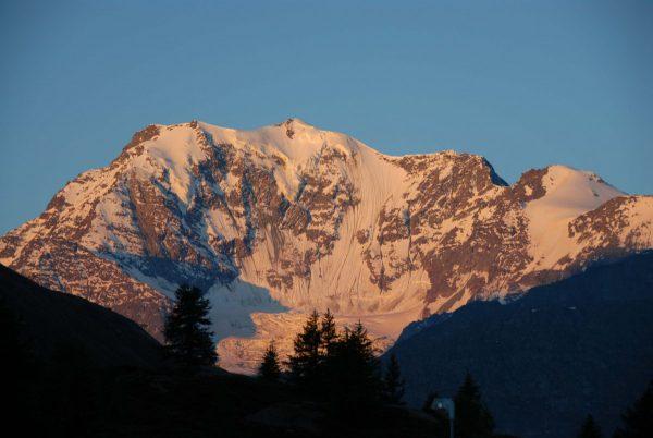La face Nord du Fletschhorn vue depuis le col du Simplon