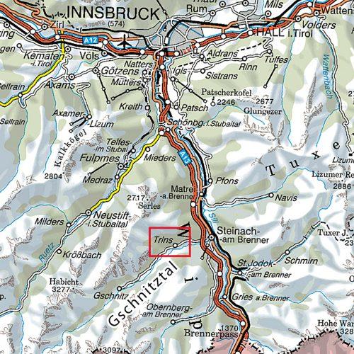 Localisation du Gschnitztal
