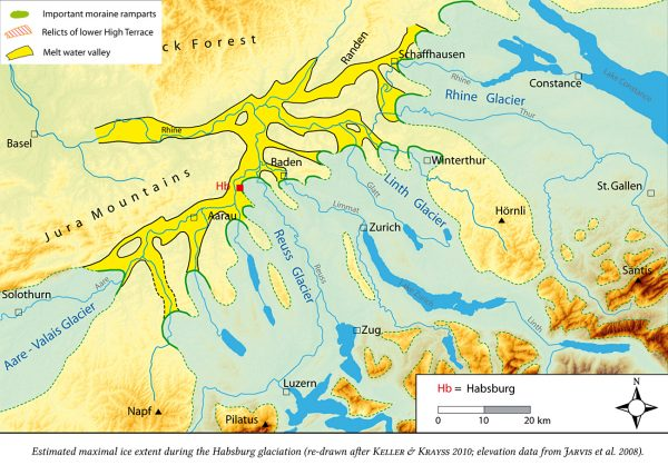 """Habsburg glaciation"" (350 000 BP), MIS 10"