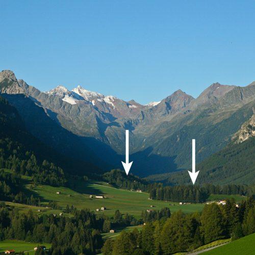 La moraine de Trins, Gschnitztal (Tyrol)