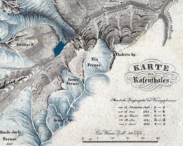 Carte Rofental 1846 de Michael Stotter 1846