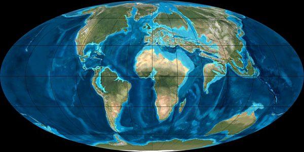 La Terre à l'Eocène il y a 50 millions d'années