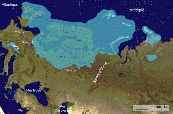 Reconstruction de la calotte Eurasienne au dernier maximum glaciaire (programme QUEEN)