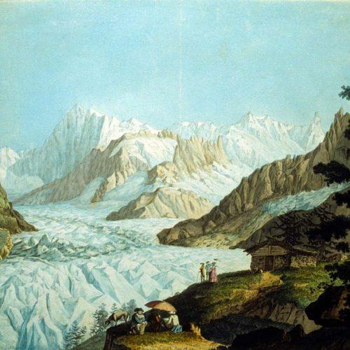 La Mer de Glace par Hackert (1781)