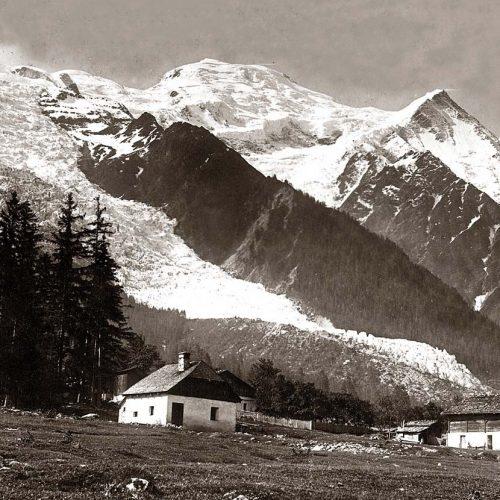 Les Pélerins et glacier des Bossons 1885