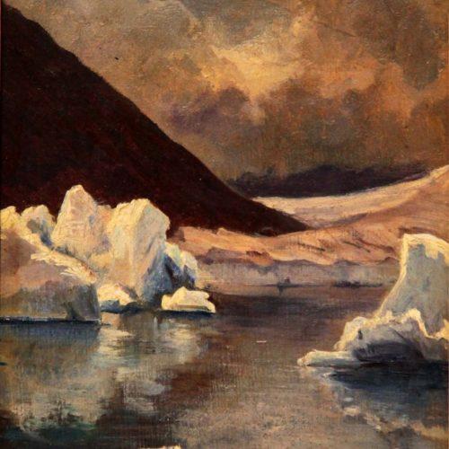 Gabriel Loppé, lac de Marjelen