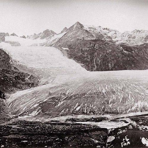 Le glacier du Rhône, 1849, photo Dolfus Ausset © JHV