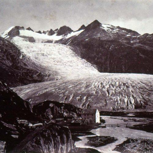 Le glacier du Rhône, 1855, photo Martens ©JHV