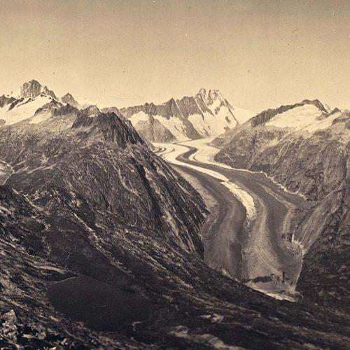 Glacier de l'Unteraar vu depuis le Sidelhorn, 1865, photo A Braun©JHV
